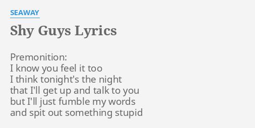 I know you feel it too lyrics