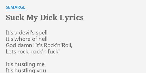 My Dick Lyircs