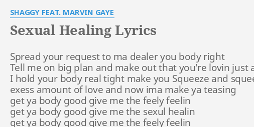 Lyrics Of Sexual Healing By Marvin Gaye