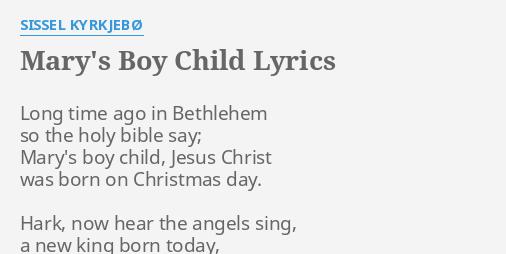 MARY'S BOY CHILD