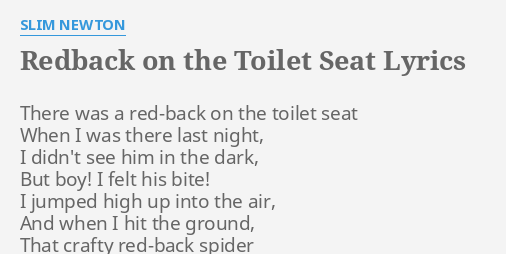 Astonishing Redback On The Toilet Seat Lyrics By Slim Newton There Was Unemploymentrelief Wooden Chair Designs For Living Room Unemploymentrelieforg