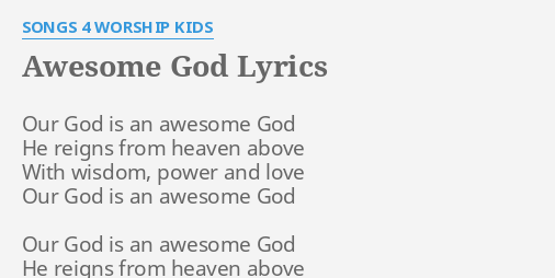 Our god worship song