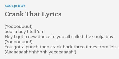 crank dat hoe lyrics