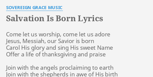 Worship songs about salvation
