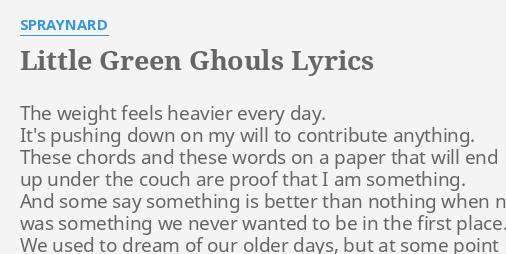 LITTLE GREEN GHOULS\