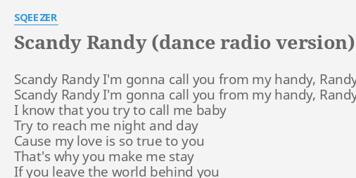 you make me randy
