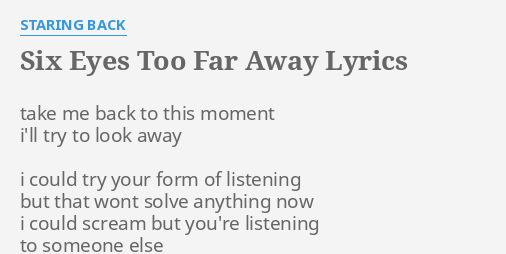 Far say someone lyrics to have when away to you something Is Falling
