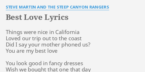 the best love lyrics