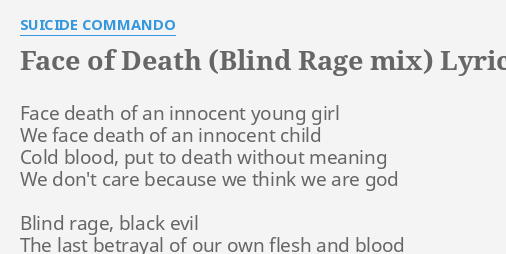 FACE OF DEATH (BLIND RAGE MIX)