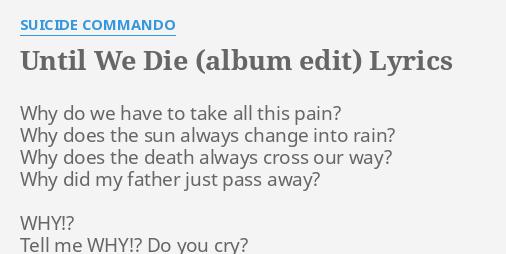 Tell me why you cry lyrics
