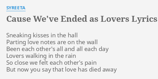 We are lovers lyrics