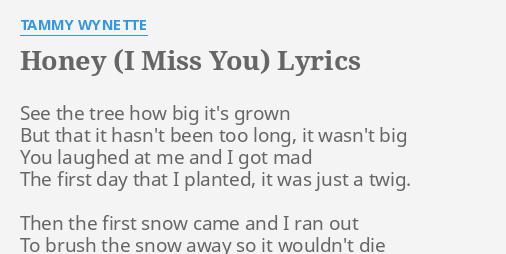 honey i miss you lyrics