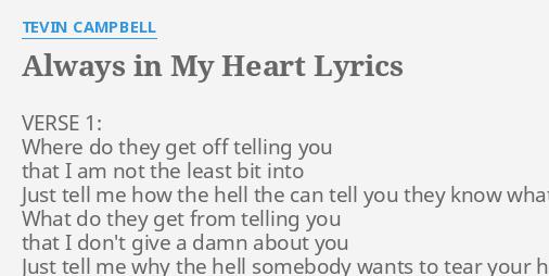 You are always in my heart lyrics