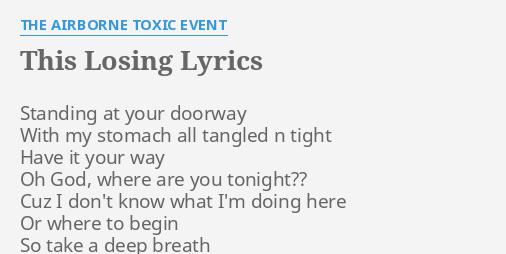 This losing lyrics