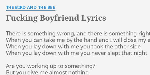 fucking boyfriend lyrics
