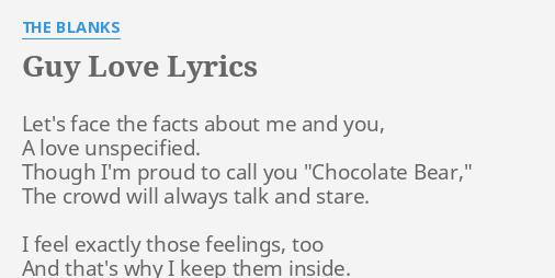 its guy love lyrics