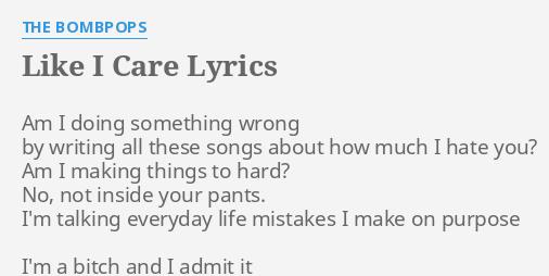 doing it wrong lyrics