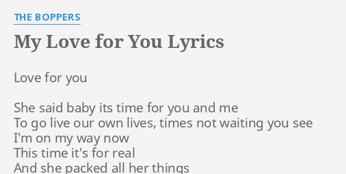 I live my love for you lyrics