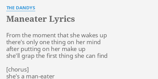 shes a maneater lyrics