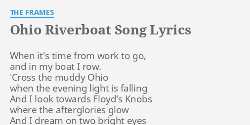 OHIO RIVERBOAT SONG\
