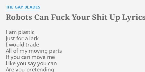 Gay robot lyrics