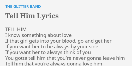 With Him Lyrics Tell That I Love Him are historically high