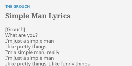 Diagram Of A Simple Man Lyrics - DIY Enthusiasts Wiring Diagrams •