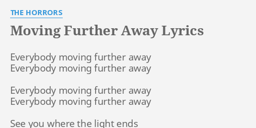 Moving away lyrics