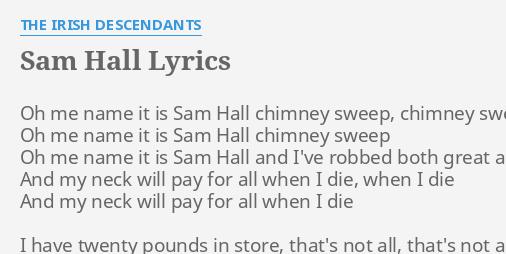 Sam hall chimney sweep