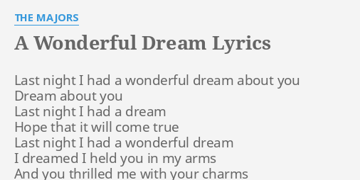 I Dream About You