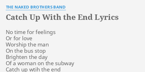 Lyrics to motormouth by the naked brothers band — pic 11