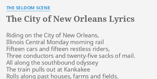 THE CITY OF NEW ORLEANS\