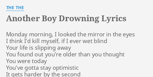 ANOTHER BOY DROWNING