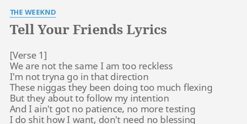were your friends lyrics