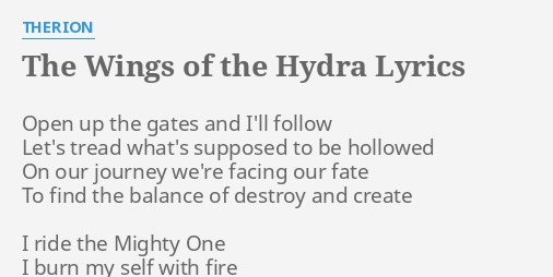 therion the wings of the hydra lyrics