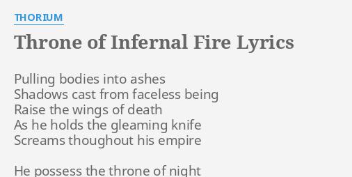 THRONE OF INFERNAL FIRE
