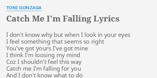 all that i know is i m falling falling falling