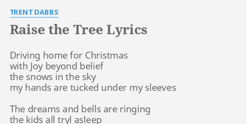 Lyrics driving home for christmas