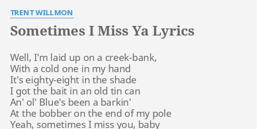 baby i miss you lyrics
