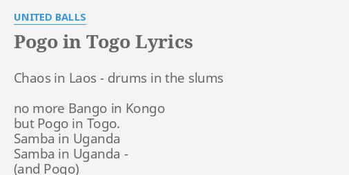 pogo in togo lyrics