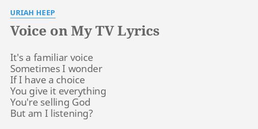 VOICE ON MY TV