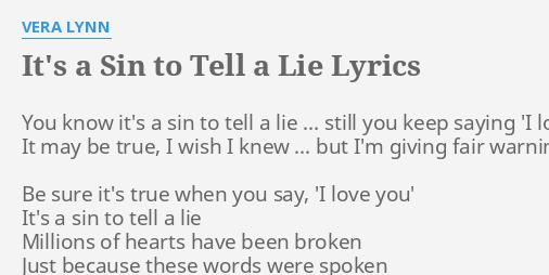When you say i love you lyrics