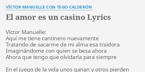El amor es un casino lyrics europa casino free bonus code
