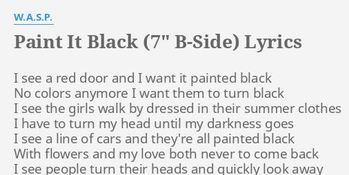 PAINT IT BLACK (7