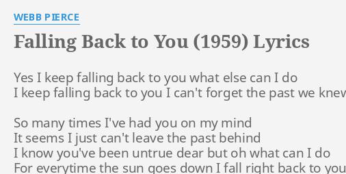 Falling back to you lyrics
