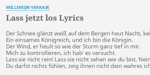 lass jetzt los lyrics
