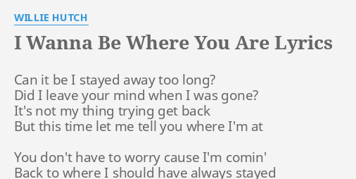 I Choose You Lyrics Willie Hutch
