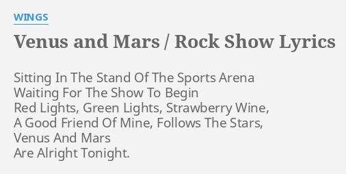 VENUS AND MARS / ROCK SHOW