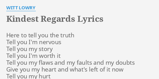 Coupons lyrics witt lowry