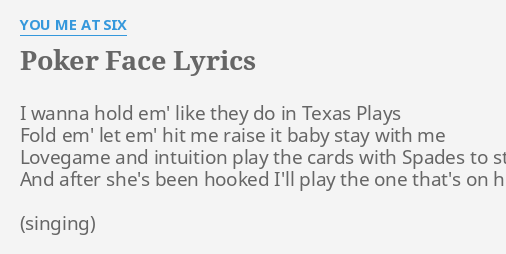 can t read my poker face lyrics